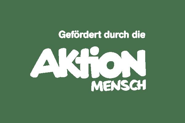 Logo der Aktion Mensch in weiß