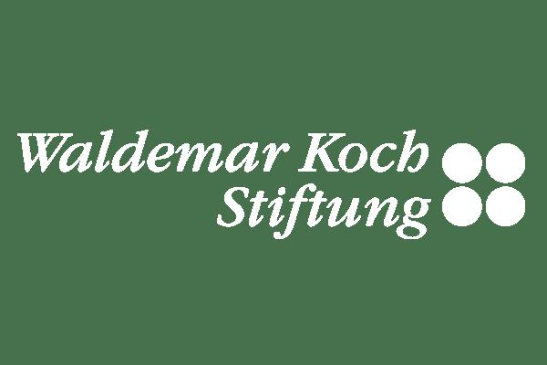 Logo der Waldemar Koch Stiftung in weiß